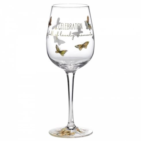 Hallmark Style & Gracie Celebration Wine Glass