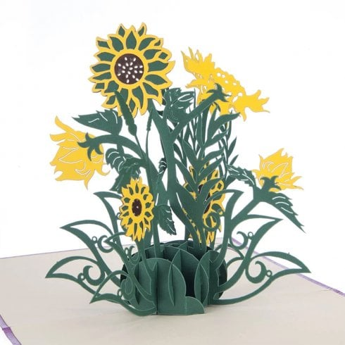 Cardology Sunflowers Pop Up Card