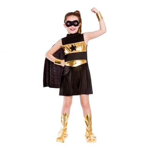 Wicked Costumes Super Hero - Black (8-10)