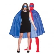 Super Hero Cape with Mask - Blue (adult)