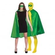Super Hero Cape with Mask - Green (Adult)