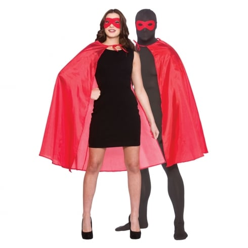 Wicked Costumes Super Hero Cape with Mask - Red (adult)