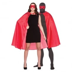 Super Hero Cape with Mask - Red (adult)