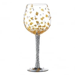 Superbling Heart of Gold Large Wine Glass