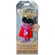 Superhero Teacher Voodoo Keyring