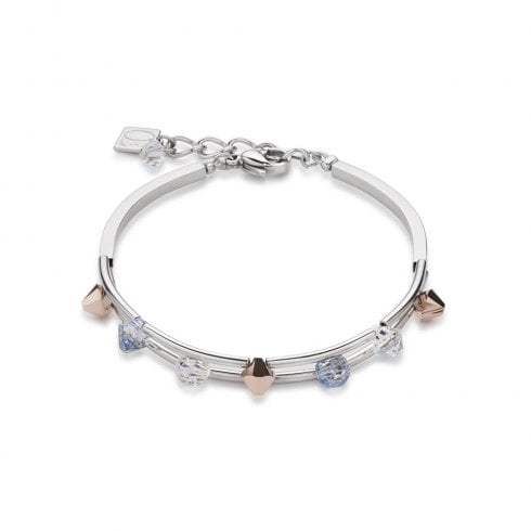 COEUR DE LION Swarovski Crystals Stainless Steel Rose Gold Bracelet