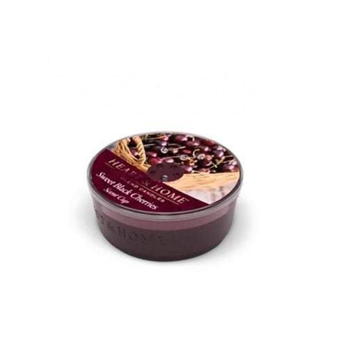 Heart & Home Sweet Black Cherry Glass Scent Cup