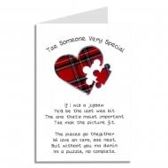 Tae Someone Very Special Jigsaw Heart Scottish Card