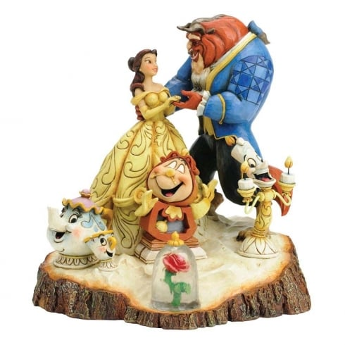 Disney Traditions Tale As Old As Time (Carved by Heart) Beauty and The Beast Diarama