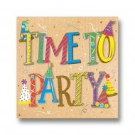 Talking Pictures More Than Words Time To Party Birthday Card MWER0120