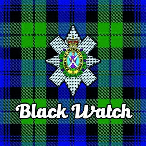 Art2Glass Tartan Clan Coaster - Black Watch