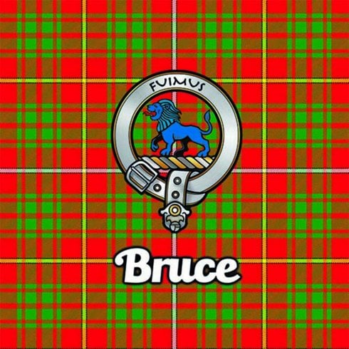 Art2Glass Tartan Clan Coaster - Bruce