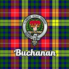 Tartan Clan Coaster - Buchanan