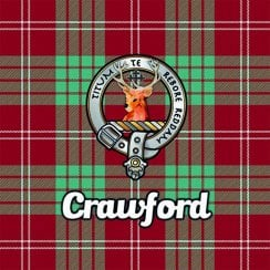 Tartan Clan Coaster - Crawford