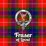 Tartan Clan Coaster - Fraser Of Lovat