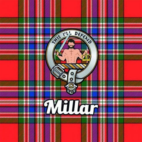 Art2Glass Tartan Clan Coaster - Millar