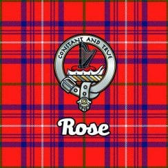 Tartan Clan Coaster - Rose