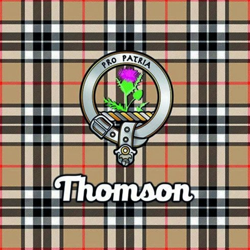 Art2Glass Tartan Clan Coaster - Thomson