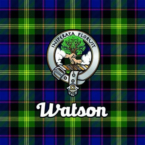 Art2Glass Tartan Clan Coaster - Watson