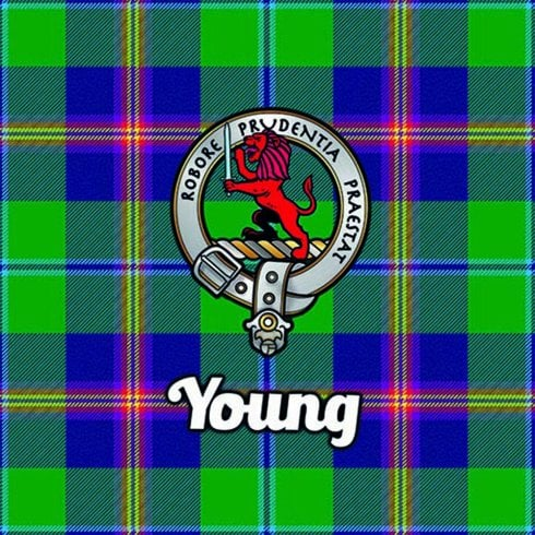 Art2Glass Tartan Clan Coaster - Young