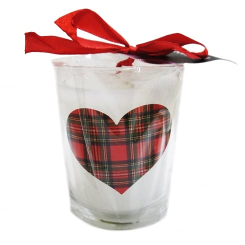 Thistle Products Ltd Tartan Heart Candle