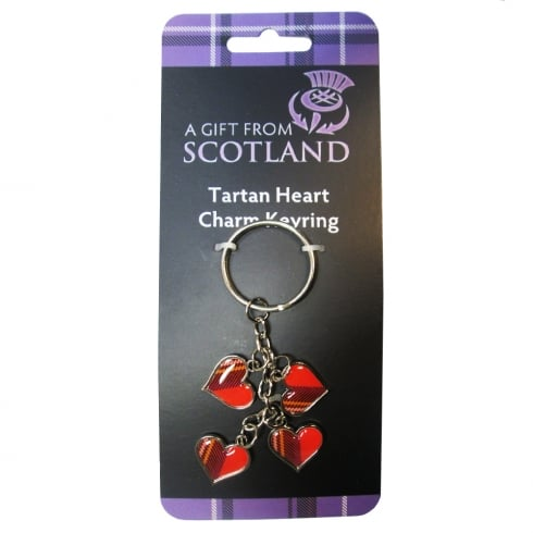 Thistle Products Ltd Tartan Heart Charm Keyring