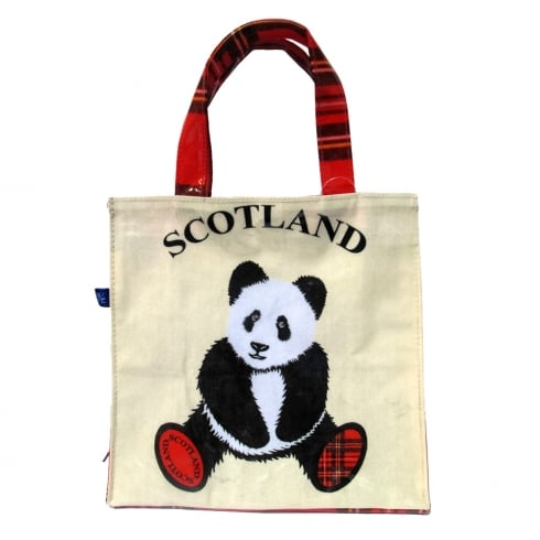 D & C Tartan Panda Mini Shopper