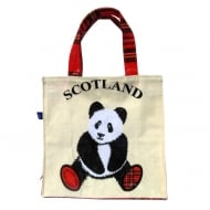 Tartan Panda Mini Shopper