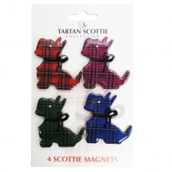 Tartan Scottie Dog Magnets