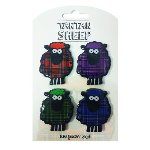 Eurostick Tartan Sheep-4 Pack Magnets