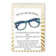 Tartan Specs Male Birthday Card