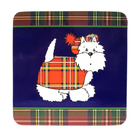 D & C Tartan Terrier Coasters 6pc