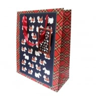 Tartan Terrier Gift Bag Medium