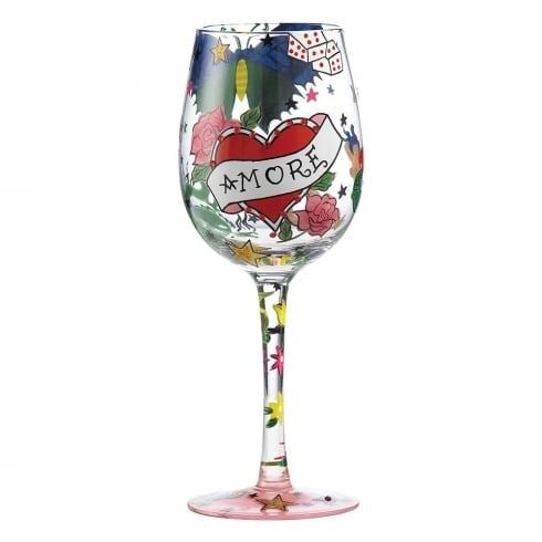 Lolita Tattoo Amore Wine Glass