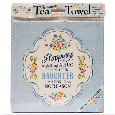 History & Heraldry Tea Towel Happiness Daughter