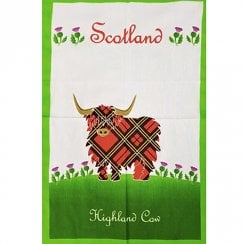 Tea Towel Highland Cow