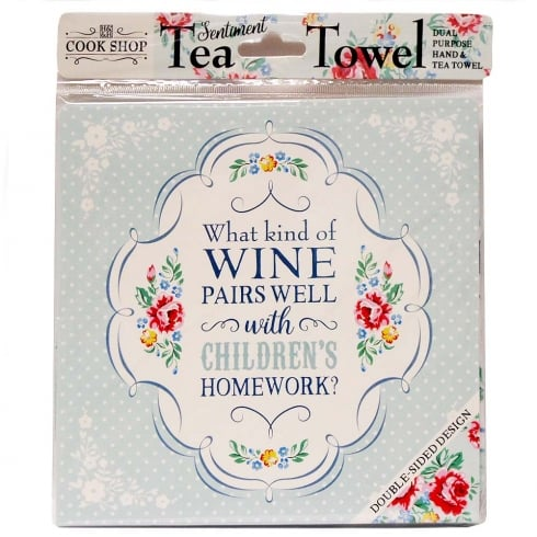 History & Heraldry Tea Towel Wine With Childrens Homework