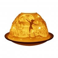 Tealight Holder Shade & Plate - Night Fairies