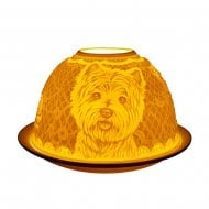 Tealight Holder Shade & Plate - Westie Dog
