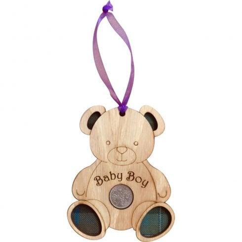 LT Creations Teddy Bear Lucky Sixpence - Baby Boy