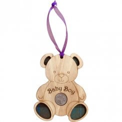 Teddy Bear Lucky Sixpence - Baby Boy
