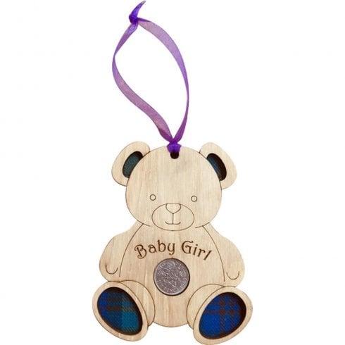 LT Creations Teddy Bear Lucky Sixpence - Baby Girl