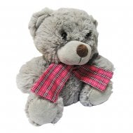 Teddy With Tartan Scarf Pink