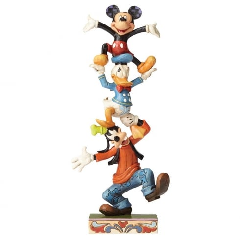 Disney Traditions Teetering Tower Goofy, Donald & Mickey Figurine