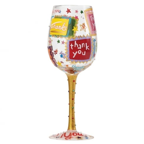 Lolita Thank You Wine Glass