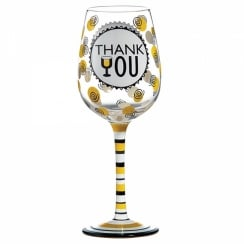 Thank You Wine Glass