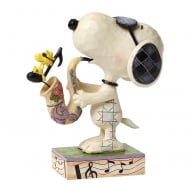 The Blues Beagle Joe Cool Snoopy & Woodstock Figurine