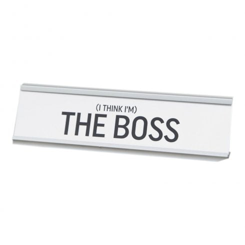 Harvey Makin THE BOSS Desk Plaque