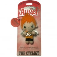 The Cyclist Angel Keyring