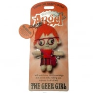 The Geek Girl Angel Keyring